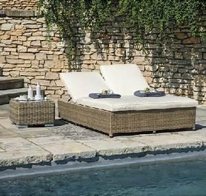 Bain De Soleil Resine Tressee : bain de soleil transat double maisons du monde ~ Teatrodelosmanantiales.com Idées de Décoration