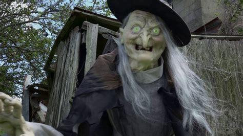 ft lunging haggard witch animatronic spirit halloween