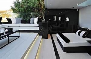 decoration salon moderne noir et blanc deco maison moderne With deco en noir et blanc