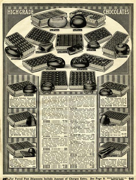 chocolates vintage printable catalogue page  design