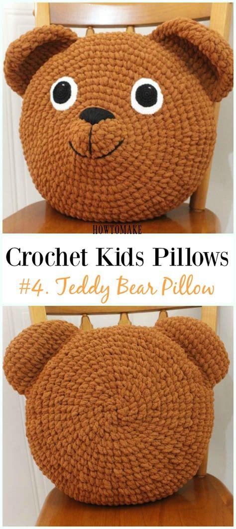 fun crochet kids pillows  patterns