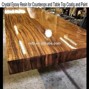 Table En Bois Et Resine : table bois resine epoxy ~ Dode.kayakingforconservation.com Idées de Décoration