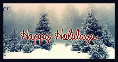 Holidays Happy Snow Animated Tree Merry Bestanimations