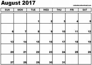 august 2017 calendar printable templates printable With calendar templats