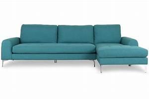 Canapé D Angle Vert : canap d 39 angle en tissu bleu vert dysart canap d 39 angle pas cher ~ Teatrodelosmanantiales.com Idées de Décoration