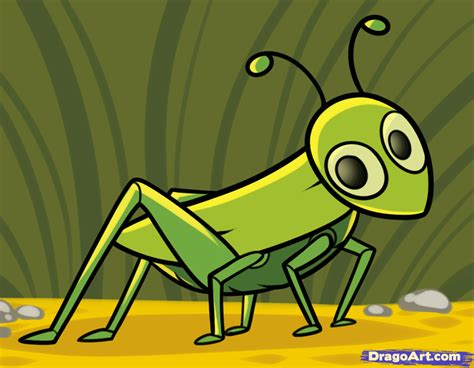 Free Cartoon Image Of Grasshopper, Download Free Clip Art