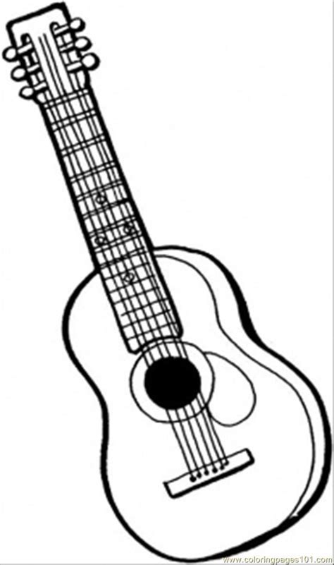 guitar coloring pages 6 string guitar coloring page free instruments coloring
