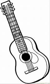 Coloring Pages Instruments Guitar Printable Instrument String Musical Drawing Colouring Sheets Adult Template Bass Mandolin Sheet Acoustic Line Getcoloringpages Outline sketch template