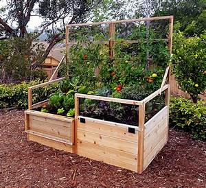 Garden Trellis Raised Gardening Bed 639x339 Trellis Lid