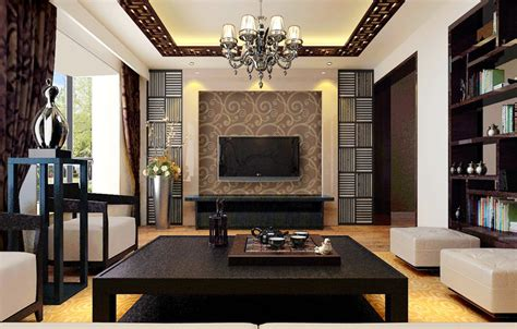 dark brown furniture design for chinese style living room