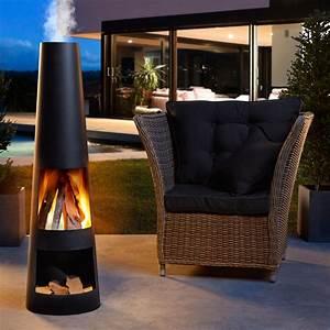 Gardenmaxx rengo black gartenkamin 120 cm h online kaufen for Kamin für terrasse