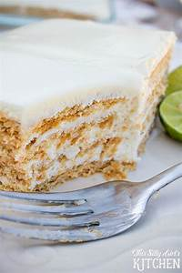 Key Lime Eclair Cake, layers of creamy filling bursting ...