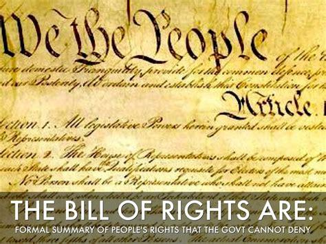 Bill of Rights Amendment Summary
