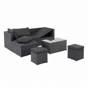 Lounge Set Garten : garten lounge set texas 4 teilig schwarz jysk ~ Yasmunasinghe.com Haus und Dekorationen
