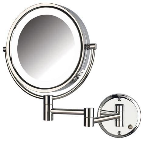 jerdon wall mount lighted mirror jerdon hl88cld 8x magnified lighted wall mount mirror
