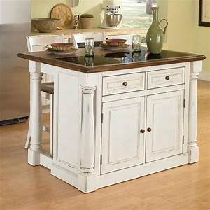 Shop Home Styles White Midcentury Kitchen Islands 2-Stools