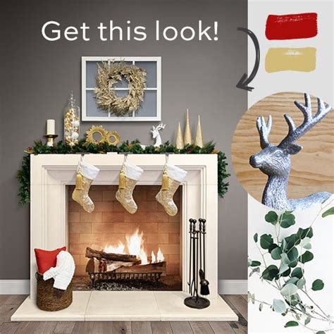 decorate  fireplace mantel  christmas