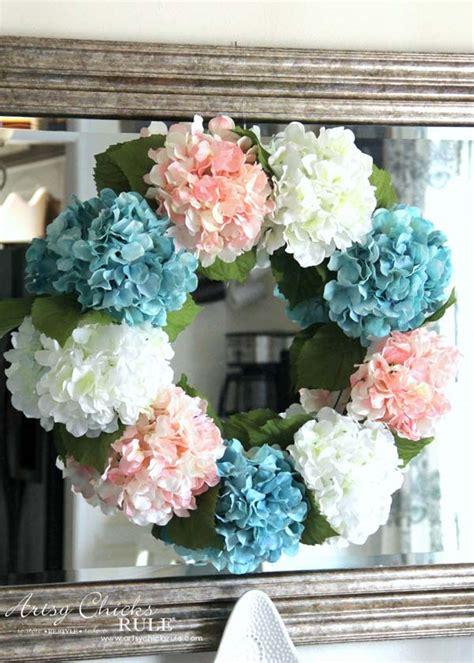 diy hydrangea wreath  easy
