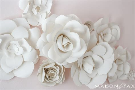 In my experience with command strips you will probably need to use more then one strip to keep the flower hanging securely. Paper Flower Wall Art in the Nursery - Maison de Pax