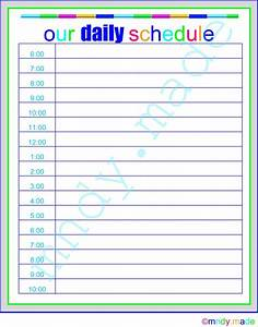 search results for printable daily hourly schedule With baby routine template