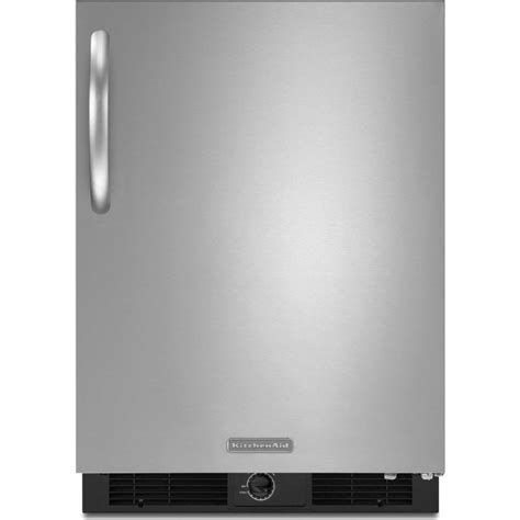 kitchenaid kursrsbs   counter stainless steel refrigerator   cu ft capacity