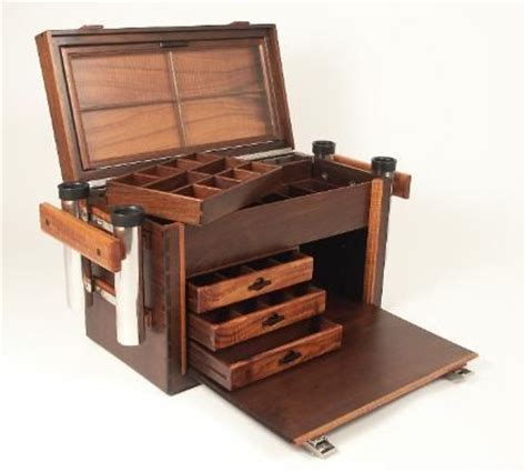 roundabout   wooden tackle box