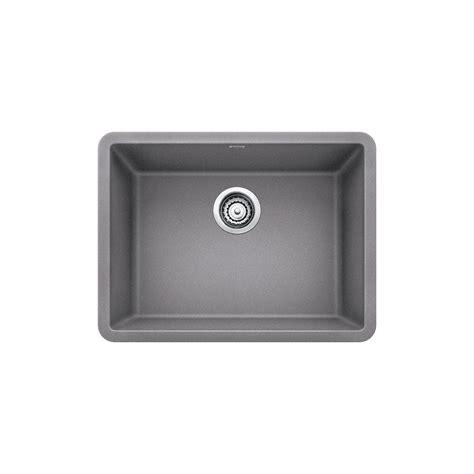 blanco single bowl sink blanco precis undermount granite composite 24 in single