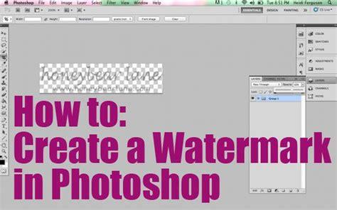 create  watermark     photoshop