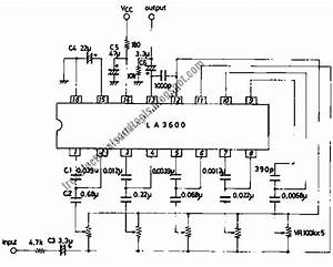 Free Schematic Diagram  5  U2013 Band Graphic Equalizer Circuit