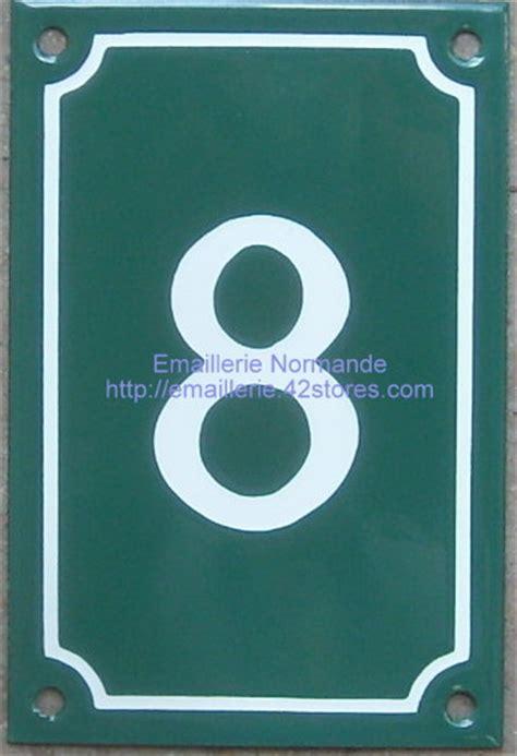 panneau plaque émaillée numéro de rue classique vertical