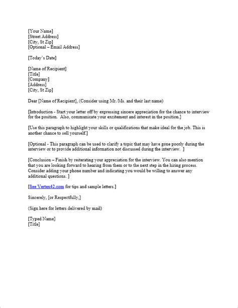 interview   letter template samples