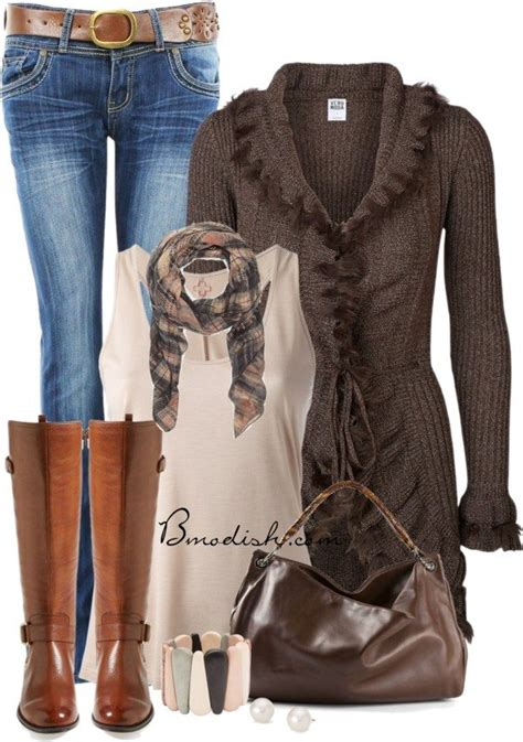 casual  cozy fall outfits polyvore combination   modish