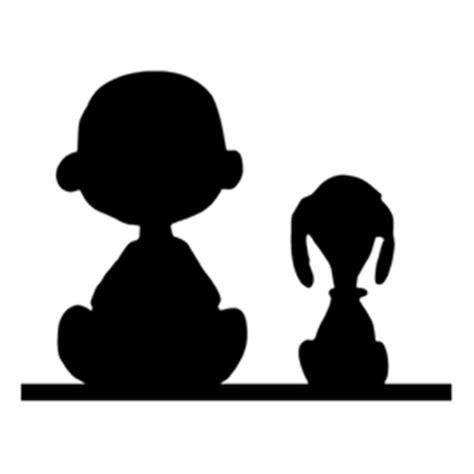 peanuts snoopy  charlie brown silhouette stencil