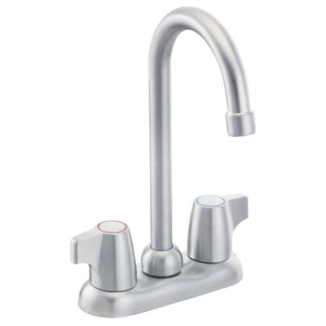 Moen Chateau Bathroom Faucet Home Depot by Moen Chateau 2 Handle High Arc Bar Faucet In Brushed
