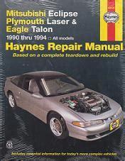 book repair manual 1985 mitsubishi pajero regenerative braking 1990 1994 mitsubishi eclipse plymouth laser talon haynes manual