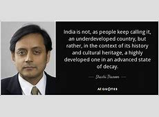 TOP 25 QUOTES BY SHASHI THAROOR AZ Quotes