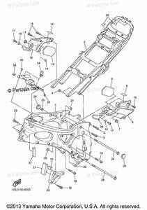 Yamaha Motorcycle 2005 Oem Parts Diagram For Frame