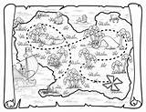 Treasure Pirate Map Coloring Printable Pirates Neverland Jake Maps Deviantart Toys Ship Disney Squidoo Birthday Blank Coloriage Carte Colouring Printables sketch template