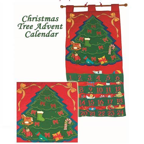 christmas tree fabric advent calendar by jolly fine notonthehighstreet com