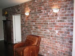 Faux brick interior wall smalltowndjscom for Faux brick paneling interior