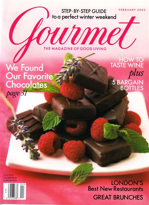 mag cuisine 39 s chocolate gourmet magazine cover