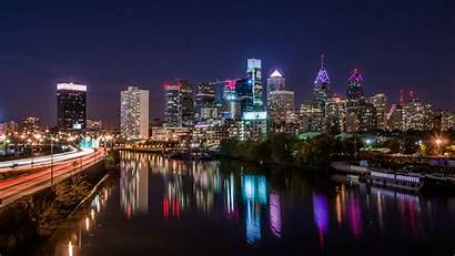 Philadelphia Pennsylvania Wallpapers 4k Pa Cities Night