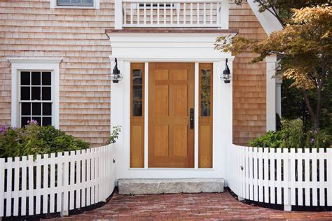 Front Door With Sidelights By Simple 3/4 Glass Entry Door