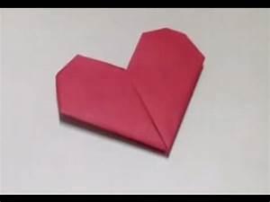 Origami Fleur Coeur D étoile : faire un c ur en origami pliage amusant youtube ~ Melissatoandfro.com Idées de Décoration
