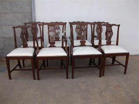 set of 8 mahogany dining chairs including 2