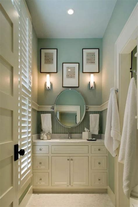 small bathroom ideas wall color  wythe blue