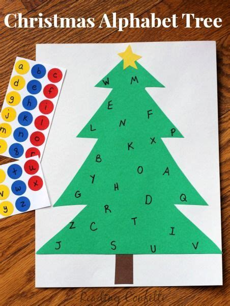 practice letter recognition with this simple christmas
