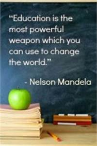 Education Is The Most Powerful Weapon Poster : quotes about education nelson mandela quotesgram ~ Markanthonyermac.com Haus und Dekorationen