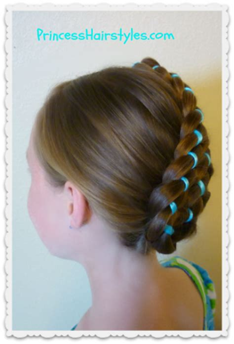 A cool list of spicy pictures. Easter Hairstyles - Diagonal Stacked Ribbon Braid Updo ...