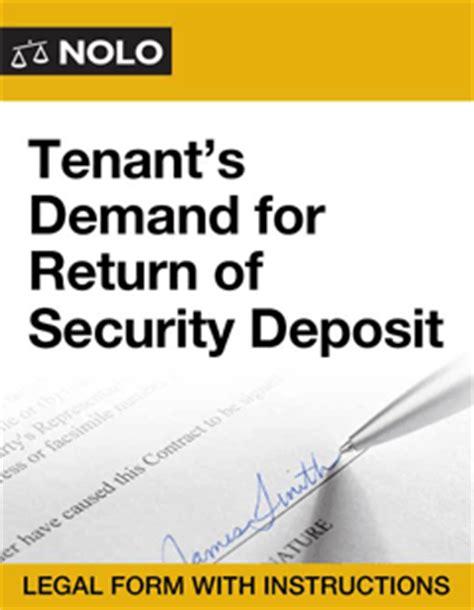 tenant 39 s demand for return of security deposit online